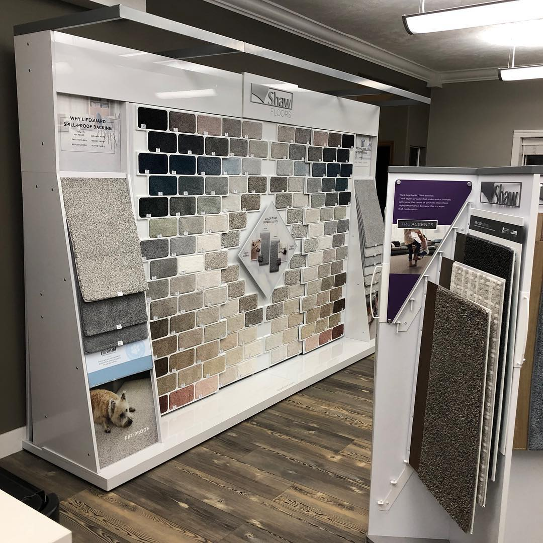 Shaw Color Wall Installed | West River Carpets