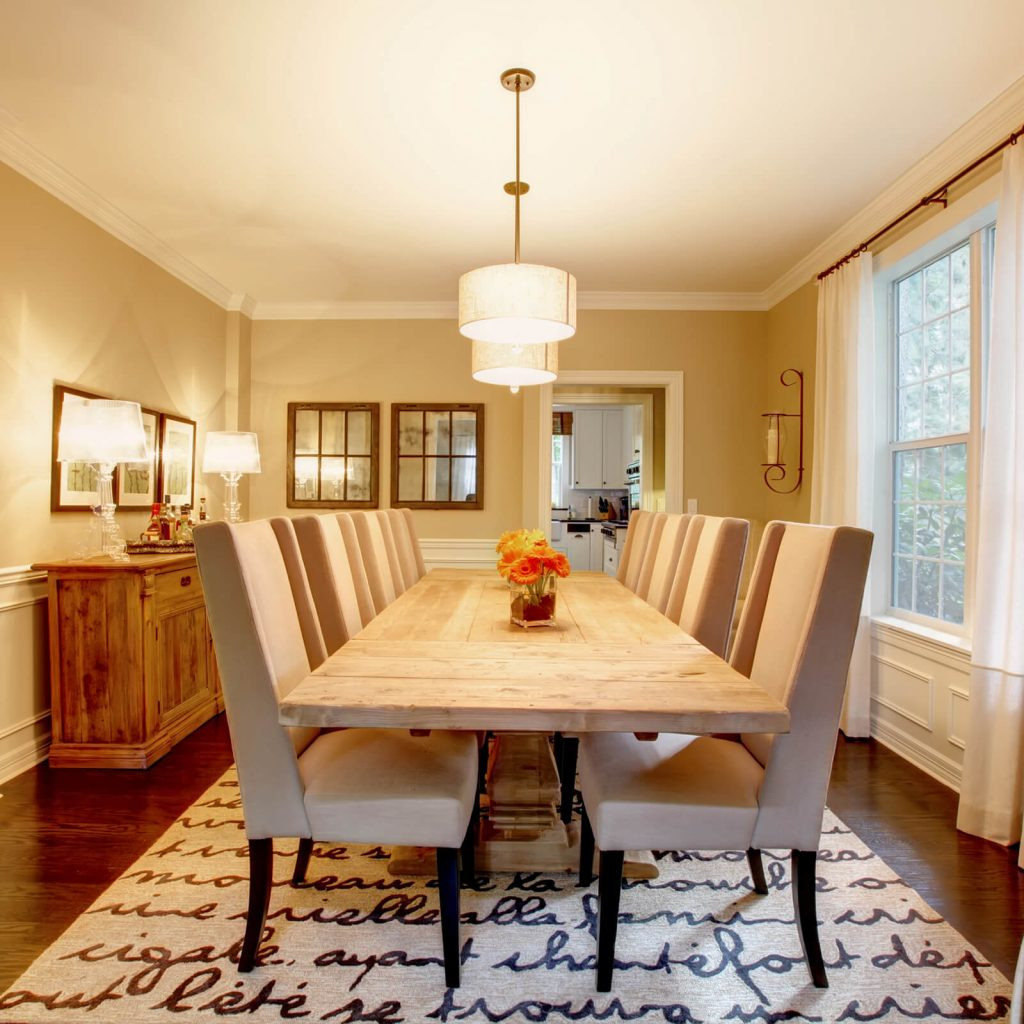 Dining room interior | West River Carpets