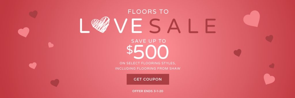 Floors to love sale banner | West River Carpets