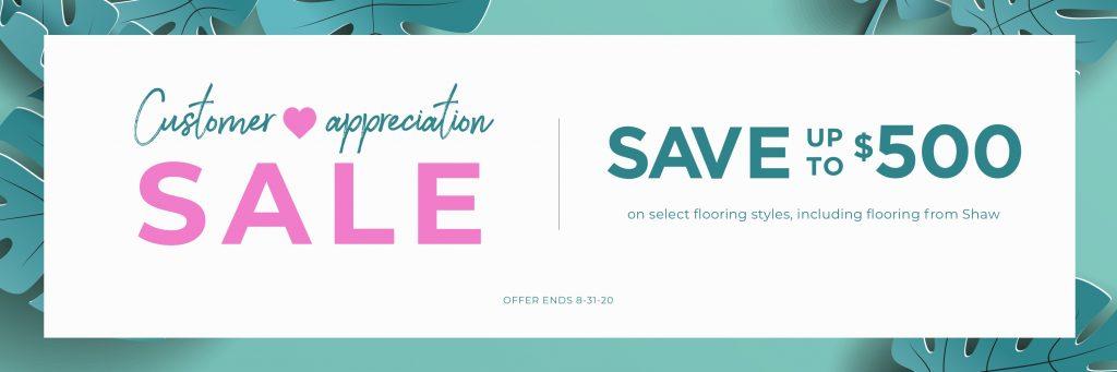 Customer Appreciation Sale | West River Carpets